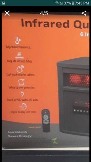 Infrared heater for Sale in Overgaard, AZ