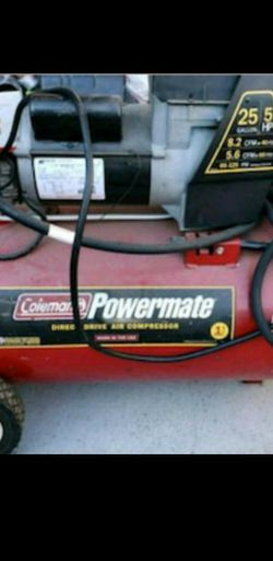 COLEMAN POWERMATE - 25 Gallon Direct Drive Air Compressor for Sale in Los Angeles,  CA
