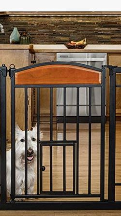 Carlson Pet Products Design Studio Home Decor Walk Through Pet Gate Carlson Pet Gate Missing Screws But Can Be Easily Replaced With Others Screws. And for Sale in Los Angeles,  CA