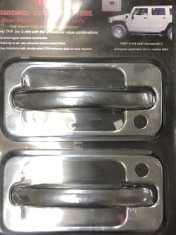 Hummer H2 Chrome Stainless Steel Door Handles Covers for Sale in Long Beach,  CA