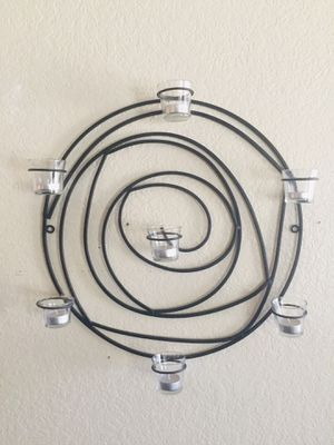 Circular Candle Holder Wall Sconce, Black (Glass) for Sale in Modesto, CA