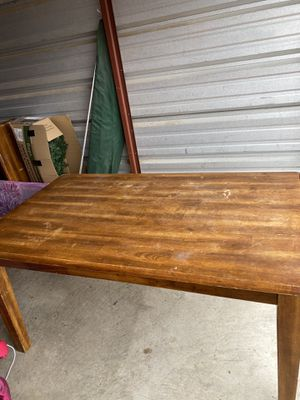 Kitchen table, 4 chairs & bench seat also coffee table and side tables set for Sale in Tulsa, OK