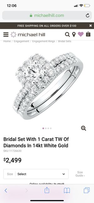 Engagement/wedding ring set for Sale in Columbus, OH