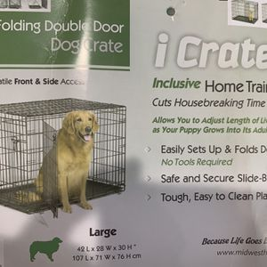 Large dog crate W/ cover Like New for Sale in Oceanside, CA
