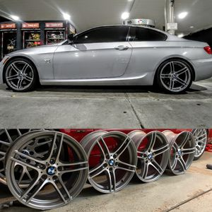 BMW 335is 19″ Machined w/ Charcoal Pockets OEM Wheels 2008-2013 for Sale in Burr Ridge, IL