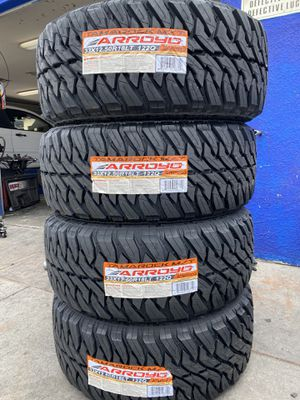 33X12.50R18 FOUR BRAND NEW TIRES , INSTALLATION & BALANCING INCLUDED for Sale in Rialto, CA