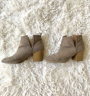 Charlotte Russe Taupe Booties for Sale in Los Angeles, CA