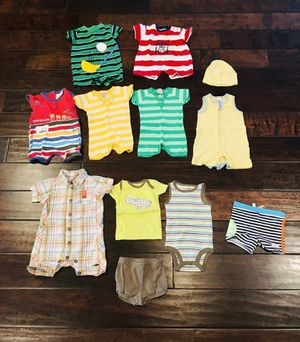 Baby boy summer clothes 0-3 months mostly 3 months for Sale in Gilbert, AZ