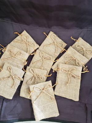 10 burlap favor bags for Sale in Visalia, CA