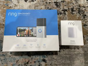BRAND NEW Ring Video Doorbell 3 + BRAND NEW Ring Chime for Sale in Queens, NY
