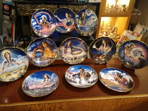 Royal doulton Franklin mint limited edition of the maidens native American plates for Sale in Sandy, OR