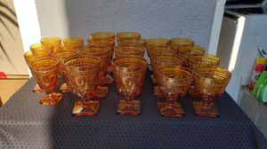 Amber goblets 23 for Sale in Torrance, CA