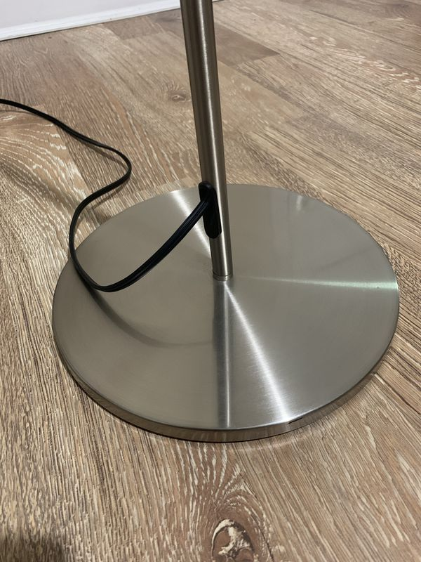 Nickel finish floor lamp