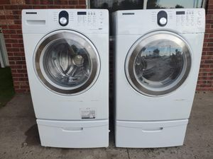 Samsung washer and electric dryer set good working condition for Sale in Denver, CO