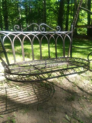 Nice wrought iron swing set loveseat and single chair for Sale in Gaylord, MI