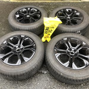 "BRAND NEW 18"" OEM BLACK Range Rover Wheels with Goodyear Tires 5x108 for Sale in Mukilteo, WA"