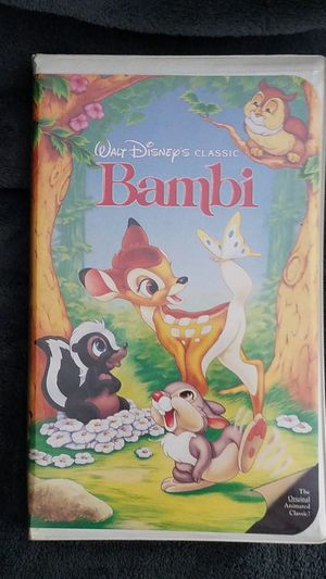 Bambi Black Diamond Edition VHS Tape for Sale in Phillipsburg, NJ