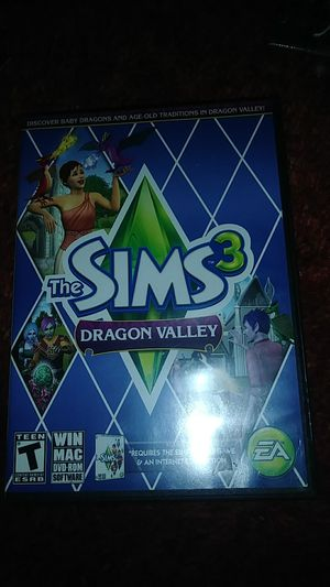 PC SOFTWARE THE SIMS 3 DRAGON VALLEY for Sale in Benbrook, TX