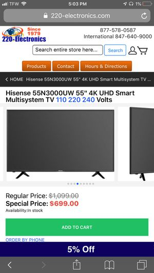 ok i'll take 300$ for my 55 inch Hisense Tv or a trade for a smaller one and some money ! for Sale in Philadelphia, PA
