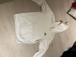white adidas hoodie size m for Sale in Miami, FL