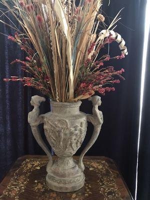 Flower arrangement in Greek pottery Vase for Sale in Plano, TX