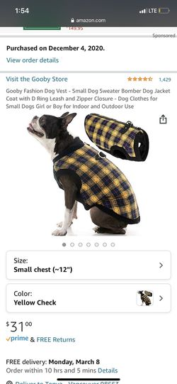 Dog Vest - Small for Sale in Vancouver,  WA