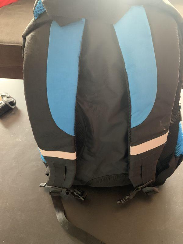 Laptop backpack blue and black