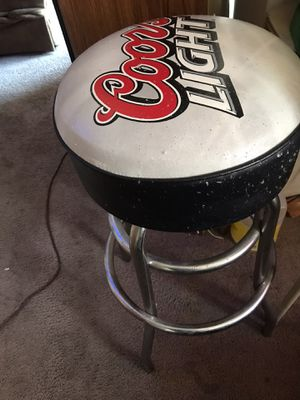 Coors light bar stool used great for man cave!! for Sale in Sicklerville, NJ