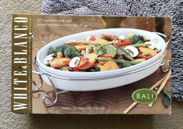 """13"""" oval baker with rack new"""