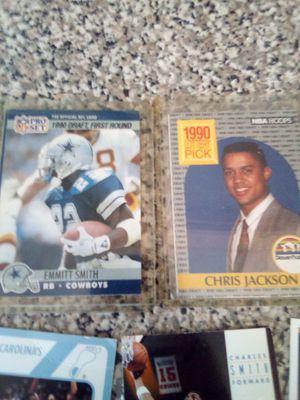 Football cards basketball cards 1990 draft emmitt Smith 1990 lottery pick Chris Jackson James Worthy Michael Jordan Michael Jordan Bo Jackson for Sale in Nashville, TN