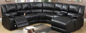 Reclining sectional set with chaise for Sale in Orlando, FL