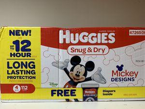 Huggies size 4 for Sale in Lynnfield, MA