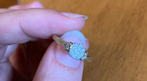 10k 1/5 ct diamond ring size 6 3/4... Only couple months old for Sale in Moline, IL