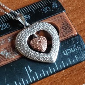 """LOW SALE PRICE TODAY! 💝 New Champagne Genuine Diamond Heart 1mm 18"""" Necklace for Sale in Pompano Beach, FL"""