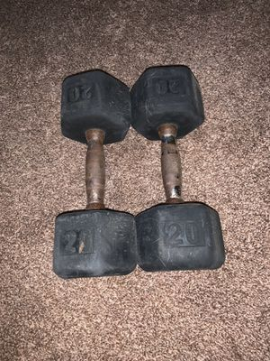 two 20 pound dumbbells for Sale in Comstock Park, MI