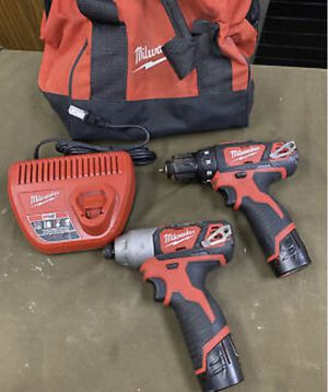 Milwaukee m12 drill and impact and charger for Sale in Sacramento, CA