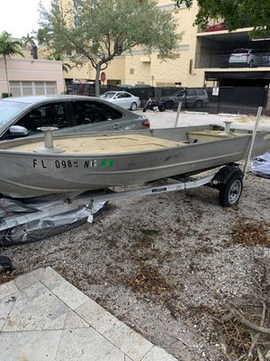 14 Ft Jon Boat and Trailer for Sale in St. Petersburg, FL