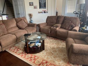 Almost NEW!!! All power recliners!! Sofa and Loveseat!! for Sale in Houston, TX