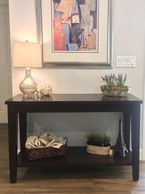 Rustic Modern Urban Farmhouse Vintage Long Wood Accent Entryway Console Sofa Table, TV Stand, Buffet, Coffee Bar, Vanity, Desk, Storage - Beautiful! for Sale in Phoenix, AZ