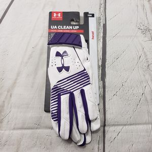 Under Armour Batting Gloves Youth Size Small UA Clean Up Heat Gear White Purple New With Tags NWT for Sale in Los Angeles, CA