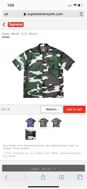 Supreme camo shirt for Sale in Tampa, FL
