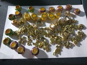 Gold and glitter European beads for Sale in Portland, OR