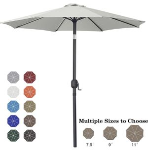 ABCCANOPY 7.5' Patio Umbrella Table Market Umbrella with Push Button Tilt for Garden, Deck, Backyard and Pool light gray for Sale in Diamond Bar, CA