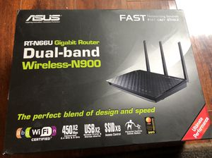 ASUS RTN66U Dual-band Wireless Router N900 Gigabyte for Sale in Maple Valley, WA