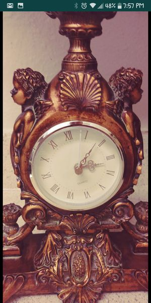 Wood antique clock for Sale in Tampa, FL