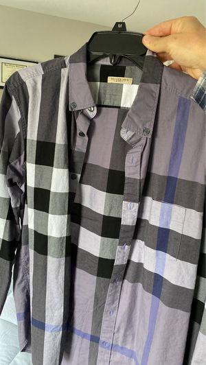 Men's Burberry button up shirt for Sale in Conshohocken, PA