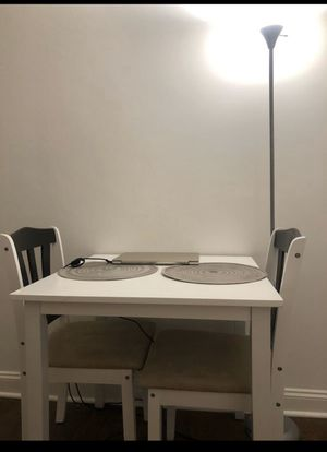 For $199 Dining table and Chair for two in white color near UCLA for Sale in Los Angeles, CA