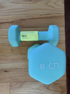 Brand new all in motion dumbbells 5lb set of two for Sale in Hyattsville, MD