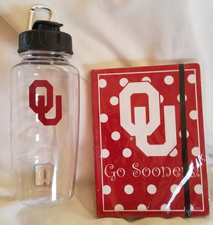 OU Water Bottle & OU Journal New for Sale in Oklahoma City, OK