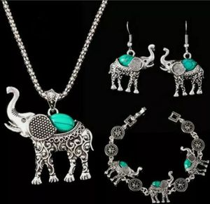 Elephant Necklace and Earrings Set for Sale in Wichita, KS